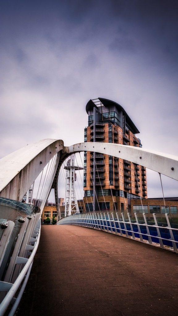 bridge, urban, city