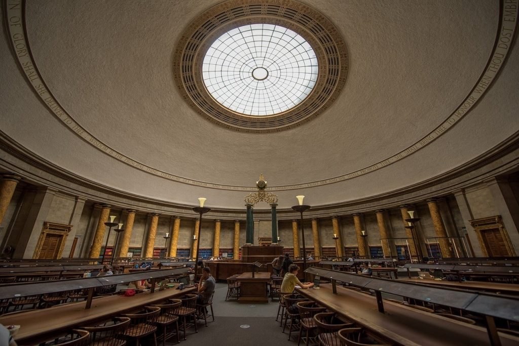 library, manchester, interior